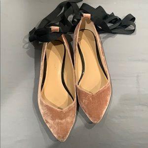 J Crew velvet shoes